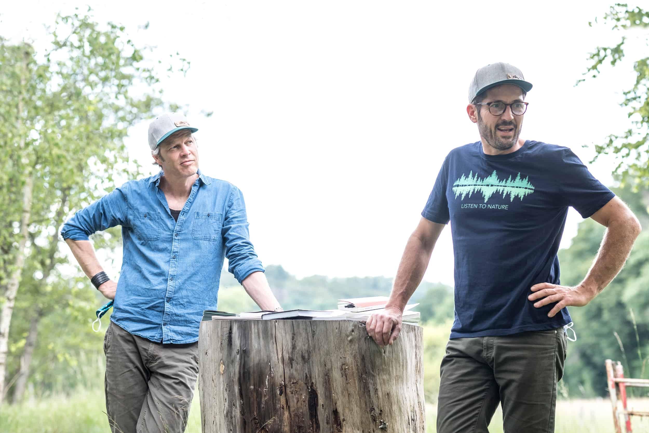 Die beiden BVWA zertifizierten RobinWoods Waldbademeister Tom Haass und Fritz Herkenrath.